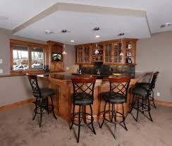 splendid home basement bar designs with wooden cabinets storage
