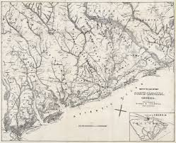 Georgia South Carolina Map Rare Confederate Imprint Of U201cmap Of The Seat Of War U201d The Old