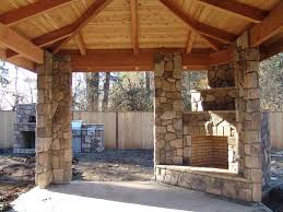outdoor stacked stone fireplace step 4 build a faade frame diy