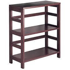 Cheap Wood Bookshelves by Amazon Com Winsome Wood Shelf Espresso Kitchen U0026 Dining