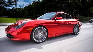 burgundy porsche 2017 porsche 911 carrera red chrome vinyl wrap by florida car wrap