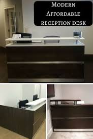 Espresso Reception Desk Modern U0026 Affordable Reception Desk In Wood Finish U0026 Laminate