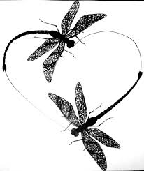 dragonfly heart tattoo design with the word u0027mom u0027 in the middle