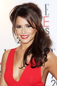 pictures of cheryl cole long half up half down hairstyles for wedding