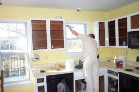Painted Oak Kitchen Cabinets Painting Oak Cabinets White And Gray Trends Also How To Paint Wood