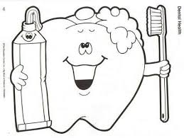 69 Best Dental Coloring Pages Images On Pinterest Oral Health Brushing Teeth Coloring Pages