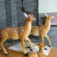 simulation deer animal garden ornaments lucky home decorations