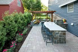 outdoor kitchen u0026 rough sawn cedar pergola providence oaks