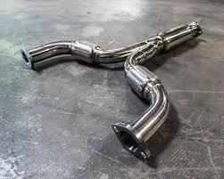 nissan 350z y pipe exhaust agency power stainless steel y pipe nissan 370z 09 17 infiniti