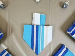 Decorative Napkin Folding Dreidel Napkin Fold For Hanukkah Moms And Crafters