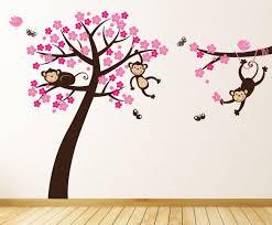 monkey blossom tree wall stickers parkins interiors monkey blossom tree wall stickers
