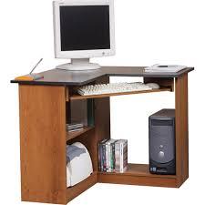Corner Desk Computer Workstation Corner Computer Workstation Oak And Black Walmart