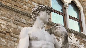 michelangelo s david copy of michelangelo david statue in florence stock video footage