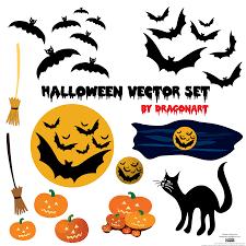 halloween vector background halloween vector set free vector 4vector