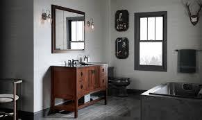 restroom ideas decorate sleek white checkered floor tile brown
