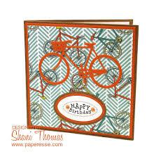 paperesse quick bicycle birthday card using spellbinder u0027s inspire