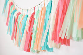 coral turquoise mint tassel garland coral mint nursery