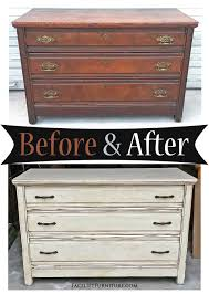 antique dresser in distressed off white before u0026 after