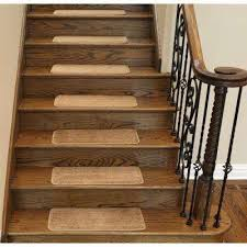 Staircase Runner Rugs Beige Cream Stair Treads U0026 Runners Rugs The Home Depot