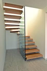 escalier bois design escalier demi tournant marche en bois sans contremarche