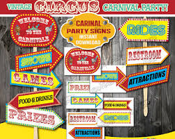 carnival decorations carnival party etsy