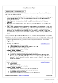 thorny issues euthanasia lively discussion topics worksheet