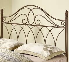 themed headboards bedroom iron headboard completing metal bed frame for