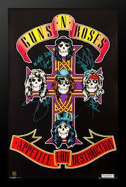 guns n roses signed poster front row memorabilia