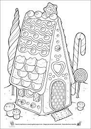 maison pain epices noël christmas hiver winter a colorier