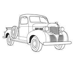 dodge pickup 1939 car coloring pages free cars