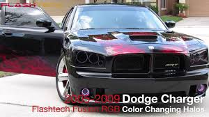 halo lights for 2013 dodge charger dodge charger flashtech v 3 fusion colorshift led halo headlight