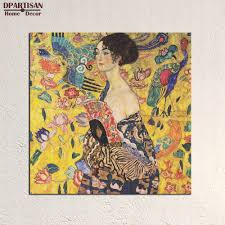 dpartisan lady with fan gustav klimt 1917 1918 wall painting