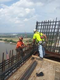 Rebar Worker Ironworkers Complete Stan Musial Veterans Memorial Bridge The