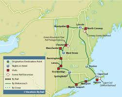 new england central railroad map tour in new england