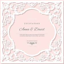 Wedding Invitation Card Samples Wedding Invitation Card Template With Laser Cutting Frame Pastel