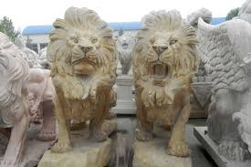 lions statues for sale marble roaring lion statues in pairs for my driveway for decor