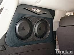 nissan frontier subwoofer box jl audio system performance audio 2008 chevy tahoe truckin