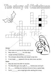 crossword puzzle christian christmas teacher resources