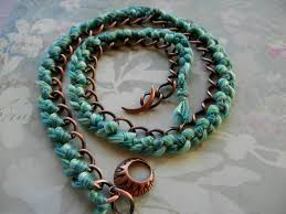 antique copper bracelet images Diy braided triple wrapped curb chain bracelet rings and things jpg