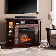 corner convertible infrared electric media fireplace