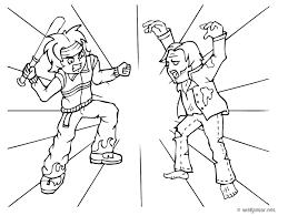 coloriage zombie les beaux dessins de personnages à imprimer et