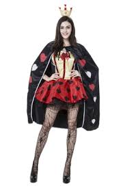 Queen Halloween Costume Womens Alice Queen Heart Halloween Costume Red Pink Queen