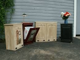 tilt out garbage cabinet trash bin hamper wood can for kitchen