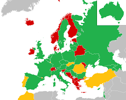 Countries Of Europe Map by Eurovision Song Contest 2016 Wikipedia