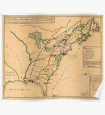 the thirteen colonies map 13 colonies map posters redbubble redbubble