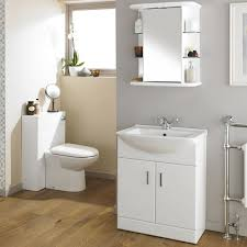 Bathroom White Gloss Back To Wall Toilet Vanity Unit Mm W - Bathroom cabinets in white gloss