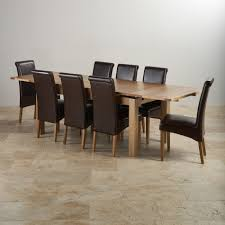 Dining Room Table Leather Chairs by Chair Dining Room Table And 8 Chairs Tables Uotsh