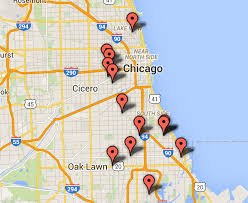 chicago map shootings 6 killed 24 wounded in weekend shootings chicago sun times