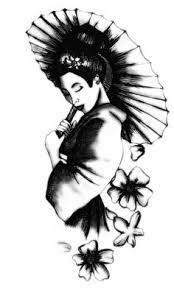 geisha with umbrella tattoo tats pinterest umbrella tattoo