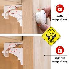 adhesive baby cabinet locks tatkraft secret 4 baby safety magnetic cabinet locks self adhesive